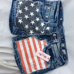 NWT Miss Me shorts.